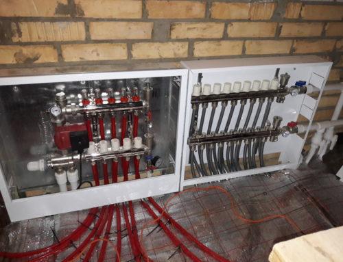 Монтаж отопления в таунхаусе кот.поселок Белые Росы